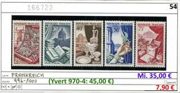 Frankreich - France - Francia -  Michel 996-1000 - ** Mnh Neuf Postfris - Yvert 970-974 - Nuovi