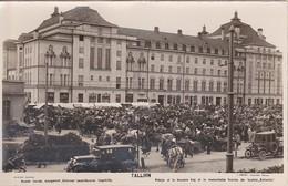 AKEO Card About Tallinn - Estonia - Market - Theater - Text In Estonian And Esperanto - 1920's Bazaro Kaj Teatro - Esperanto