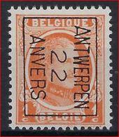 HOUYOUX Nr. 190 België Typografische Voorafstempeling Nr. 66 B  ANTWERPEN  22  ANVERS  ! - Préoblitérés