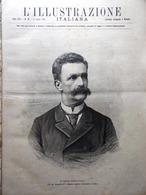 L'Illustrazione Italiana 13 Luglio 1890 Casati Sine Labe Di Genova Civitavecchia - Vor 1900