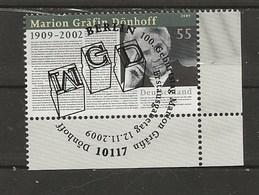 Marion Gräfin,1909-2002..-1er Jour 12.11.2009. - Used Stamps