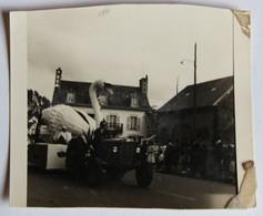 Lieu à Identifier Photographie Fête En Bretagne Grand Cygne Tiré Par Tracteur - Postcards