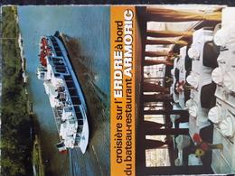 Carte Postale De Nantes, Publicité, Bateau Touristique De L'Erdre - Nantes