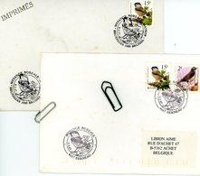 2695 (oiseau De Buzin) Sur Lettres Avec 2 Cachets DIFFERENTS De Prévente (voir Scan & Descr) - Postmark Collection