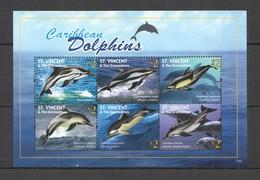 G996 2010 ST. VINCENT CARIBBEAN DOLPHINS MARINE LIFE FAUNA KB MNH - Balene