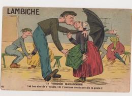 Cpa Fantaisie Humoristique  / Lambiche .La Vendée Maraichine .( Couples S'embrassant ) - Humour