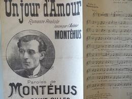 Partition Ancienne Chanson Montehus Romance Réaliste Sociale Saint Gilles - Partitions Musicales Anciennes