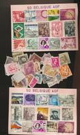 Lot De 3700 Timbres BELGIQUE Ou 74 Pochettes Non Ouvertes De 50 Timbres - Postzegels
