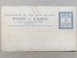 Cook Islands 1892 Postal Stationery Postcard 1d Rate Unused - Cookinseln