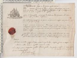 NAPOLI 1831  BOLLA TRASPORTO MERCI ORIGINALE - Historical Documents