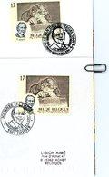 2696 (Constant SPINOY) Sur Lettre Et Feuillet Avec 2 Cachets DIFFERENTS De Prévente (voir Scan & Descr) - Postmark Collection
