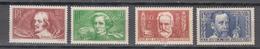 France 1936,4V,set,famous Persons, Pasteur,Hugo,Berliox,Callot,MNH/Postfris(A3739) - Louis Pasteur