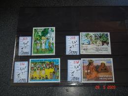 "POLYNESIE FRANCAISE  ANNEE1984 NEUFS  TIMBRES N° 223 A 226  SERIE COMPLETE 4 VALEURS   PEINTRE EN POLYNESIE "" TABLEAUX"" - Stamps"