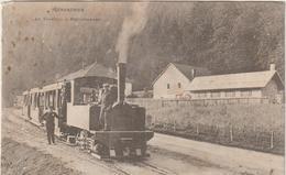 Vosges :  GERARDMER  : Le  Tramway-train  à  Retournemer  (  CARTE  DECOLLEE !!!!) - Gerardmer