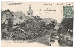 Epernay : Un Coin Du Cubry Derrière L'église St-Pierre-St-Paul (Editeur Em. Choque, N°128) - Epernay