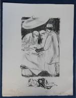2 Dessin Numéroté Et Signé F. Revillon Opération Chirurgicale Chirurgie Médecine - Drawings