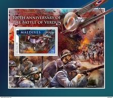 MALDIVES 2016 - WW1: Verdun - YT BF991, Mi B1006, Sc 3814 - WW1 (I Guerra Mundial)