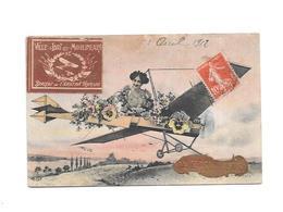 11601 - CPA Fantaisie, Vignette Ville ISSY LES MOULINEAUX, Berceau Aviation Française, - Issy Les Moulineaux