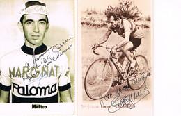 2 CARTES POSTALES DE CYCLISME - DEDICACEES - LAZARIDES LUCIEN - MATTIO - - Cyclisme