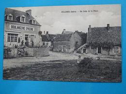 """36 ) Oulches - Un Coin De La Place """" La Boulangerie - épicerie  - Année 1931 : EDIT : Roudier - France"""