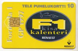 FINLANDE TELE 10U Neuf 04/97 RENAULT F1 Tirage 4 000 Ex - Finland