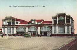 Afrique Occidentale (Sénégal) DAKAR  La Gare  Voiture Colorisée RV - Senegal