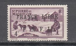 Saint Pierre Et Miquelon SPM 1941-42,Mi 251,dogs,honden,hunde,chiens,perros,cani,MH/Ongebruikt(A3741) - Dogs