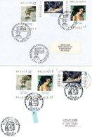 A VOIR !!! (DELVAUX) Sur Lettres & Feuillet Avec 3 Cachets DIFFERENTS De Prévente & 1er Jour Vente (voir 4 Scan & Descr) - Postmark Collection