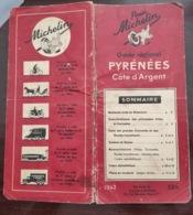 Guide Rouge Régional Michelin Pyrénées Cote D'argent - 1942 - Roadmaps