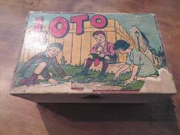 BOÎTE DE LOTO ANCIENNE VIDE - Group Games, Parlour Games
