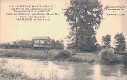 77 - ISLES LES VILLENOY Près ESBLY / RESTAURANT HOTEL DU PONT DU CHEMIN DE FER - Esbly