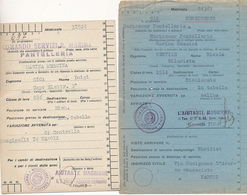 1942 ISOLA DI PANTELLERIA 2 FRANCHIGIE CON ANNULLI DIFFERENTI R. MARINA - 1900-44 Vittorio Emanuele III