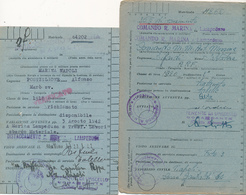 1942 ISOLA DI LAMPEDUSA LOTTO DI 3 FRANCHIGIE CON ANNULLI DIFFERENTI R. MARINA - 1900-44 Vittorio Emanuele III