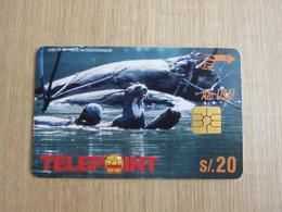 Telepoint Chip Phonecard, Lobo De Rio,used,backside White - Perú