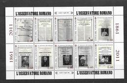 2011 MNH  Vaticano Mi 1700-9 Kleinbogen - Blocks & Sheetlets & Panes
