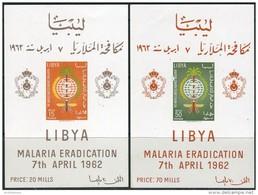 Libya 1962. Michel Bl.#2/3 MNH/Luxe. Health. Medicine. Malaria (Ts36) - Libia