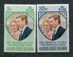Gilbert And Ellice Islands 1973 Royal Wedding Set MNH (SG 221-22) - Gilbert- Und Ellice-Inseln (...-1979)