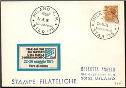 Italia/Italy/Italie: Salone Del Tappeto E Del Tessile, Hall Of Carpet And Textile, Salle De Tapis Et Textiles - Textile