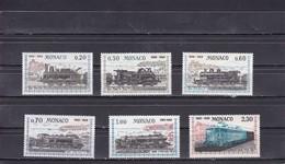 Monaco 1968 Mi 896-901 100 Years Railway Connection Nice-Monaco / 100 Jahre Eisenbahnverbindung Nizza-Monaco MNH** - Treinen