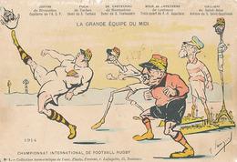 LA GRANDE EQUIPE DU MIDI - CHAMPIONNAT INTER DE FOOTBALL RUGBY JOFFRE - FOCH - DE CASTELNAU - BOUE DE LAPEYRERE - GALLIE - Patriotic