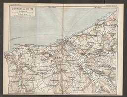 CARTE PLAN 1928 - ENVIRONS DE DIEPPE PUYS BERNEVAL MARTIGNY POURVILLE AUBERMESNIL VARENGEVILLE - Cartes Topographiques