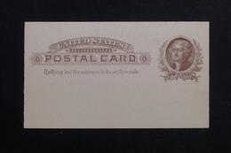 ETATS UNIS - Entier Postal Avec Repiquage Commercial De Nassau Au Verso Non Circulé - L 61678 - ...-1900