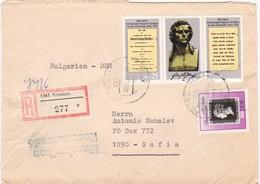 Germany – DDR /Bulgarien Einschreiben 1990 Mit R-Zetteln Aus 1563- Potsdam - Briefe U. Dokumente