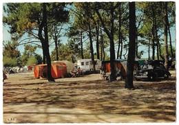 40 Capbreton Le Camping Avec Automobile (2 Scans) - Capbreton
