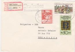 Germany – DDR /Bulgarien Einschreiben 1989 Mit R-Zetteln Aus 1563- Potsdam - Briefe U. Dokumente