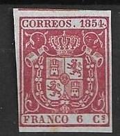 ESPAÑA 1854 EDIFIL 24 F - Unused Stamps