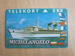 "Ktas Magnetic Card, Ship "" Michelangelo"", 1500 Pieces Only - Denemarken"