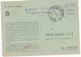 1942 ISOLA LAMPEDUSA R STAZIONE RADIOTELEGRAFICA LAMPEDUSA + POSTA MILITARE 3550 - 1900-44 Vittorio Emanuele III