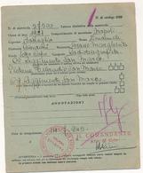 1946 REGGIMENTO SAN MARCO GRUPPO FOLGORE COMANDO PLOTONE TELERADIO DC ROSSO - Posta Militare (PM)