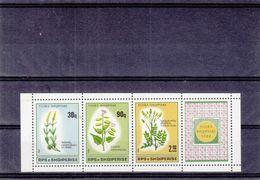 Albanie - Yvert 2163 / 5 ** - Fleurs - Avec Vignette - Tirage 12000  - Valeur 50 Euros - Albanien